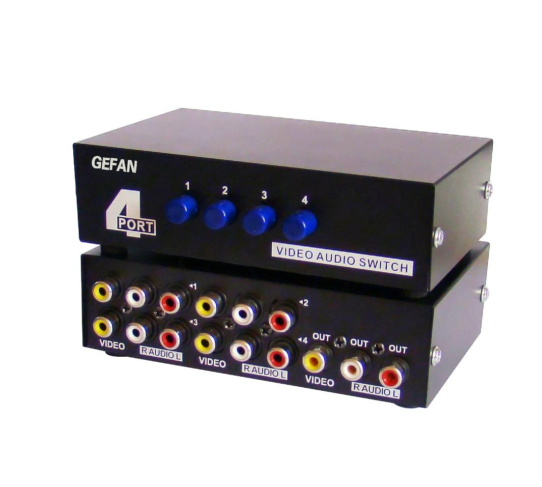 音视频切换器-s端子切换器-三色差切换器-音频切换器